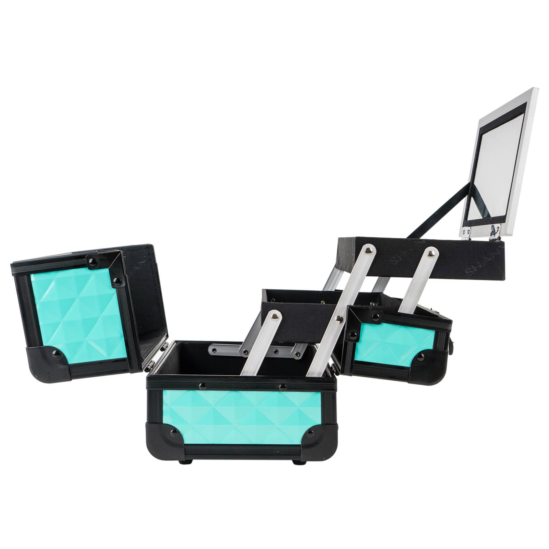 SHANY-Mini-Makeup-Train-Case-With-Mirror miniature 84