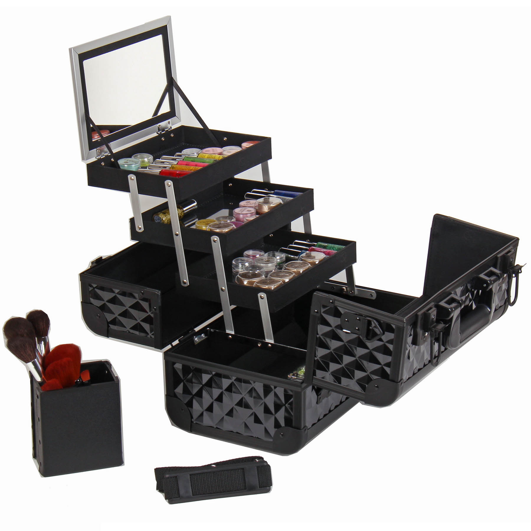SHANY-Fantasy-Collection-Makeup-Artists-Cosmetics-Train-Case miniature 5