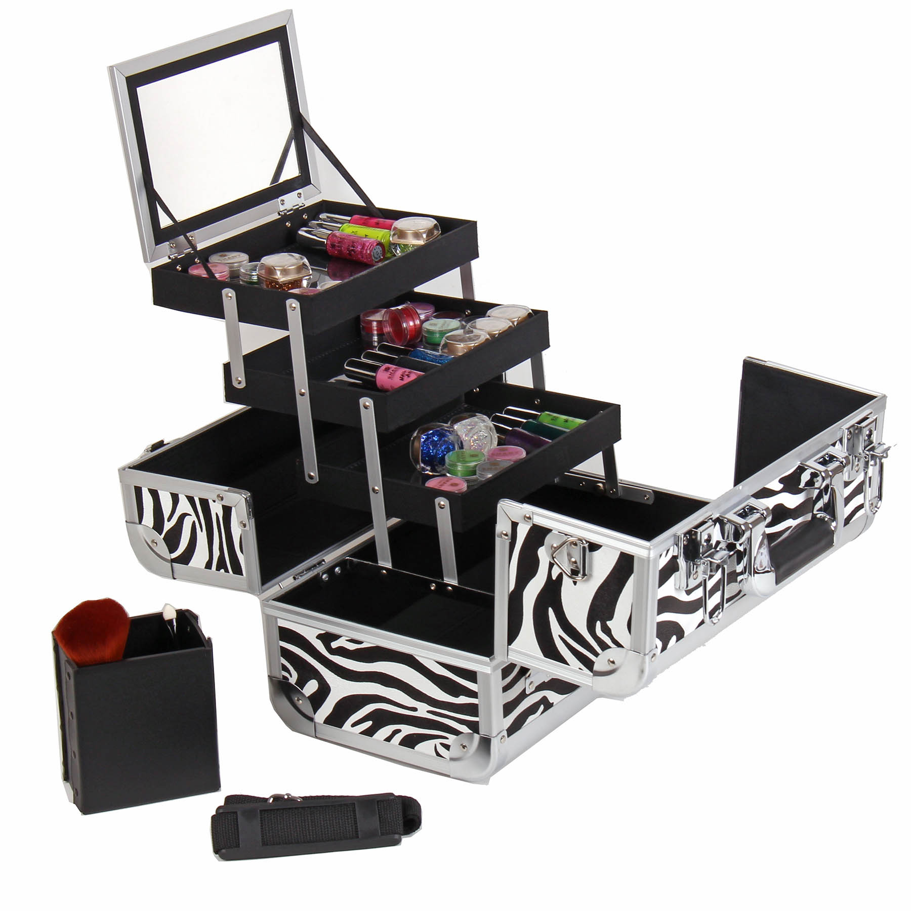 SHANY-Fantasy-Collection-Makeup-Artists-Cosmetics-Train-Case miniature 74