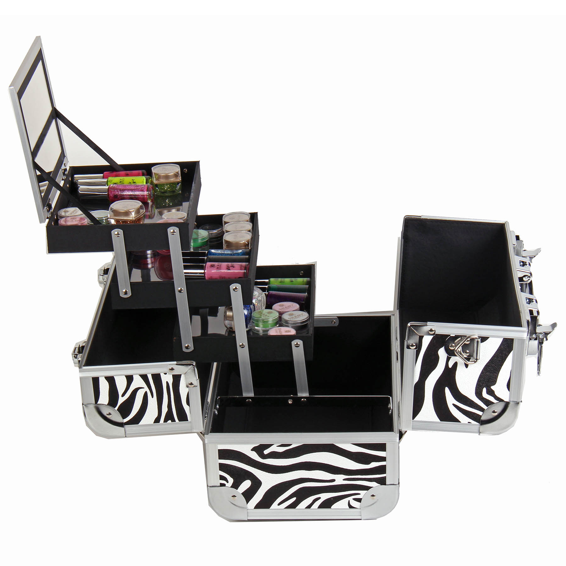 SHANY-Fantasy-Collection-Makeup-Artists-Cosmetics-Train-Case miniature 77