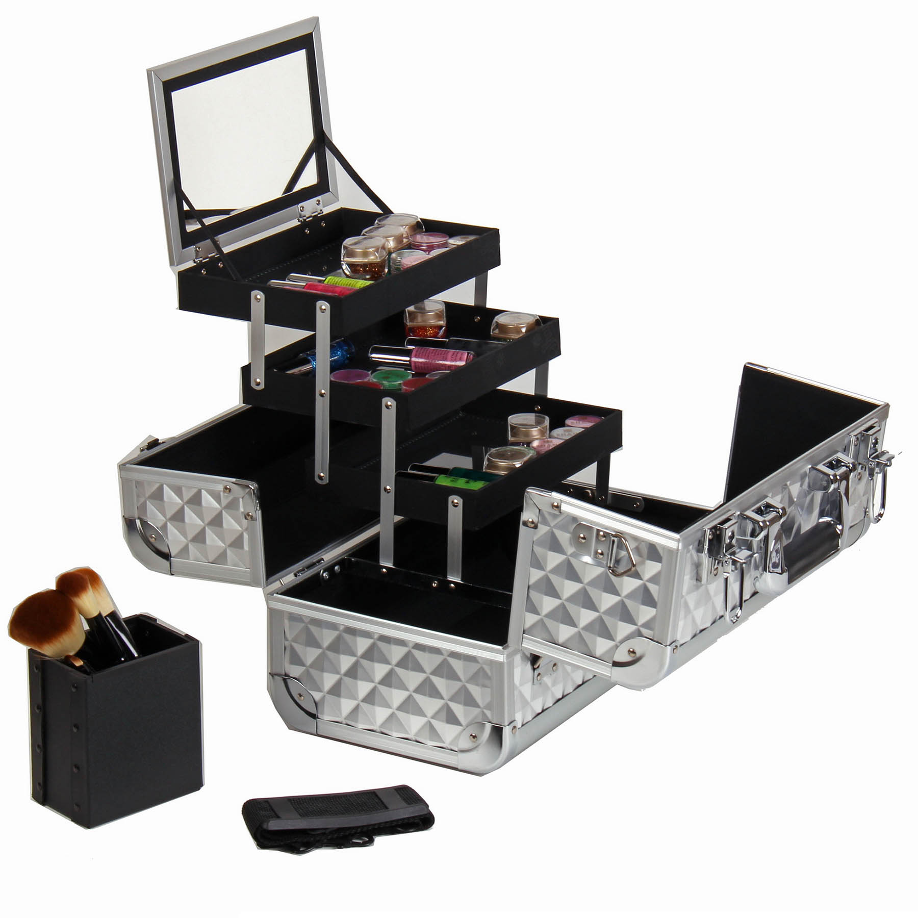 SHANY-Fantasy-Collection-Makeup-Artists-Cosmetics-Train-Case miniature 60