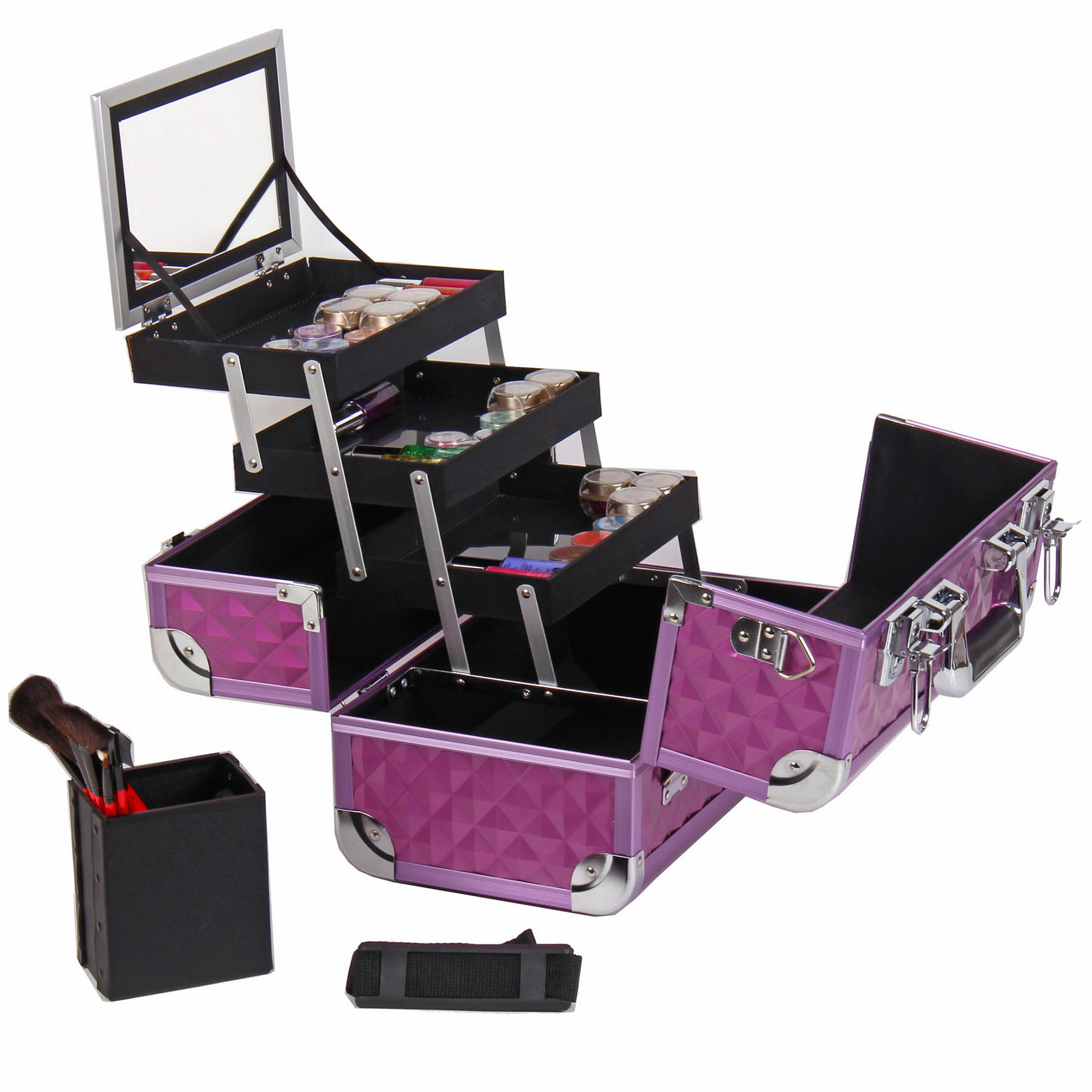 SHANY-Fantasy-Collection-Makeup-Artists-Cosmetics-Train-Case miniature 46