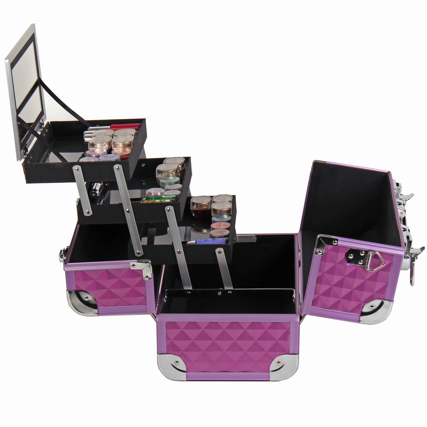 SHANY-Fantasy-Collection-Makeup-Artists-Cosmetics-Train-Case miniature 47