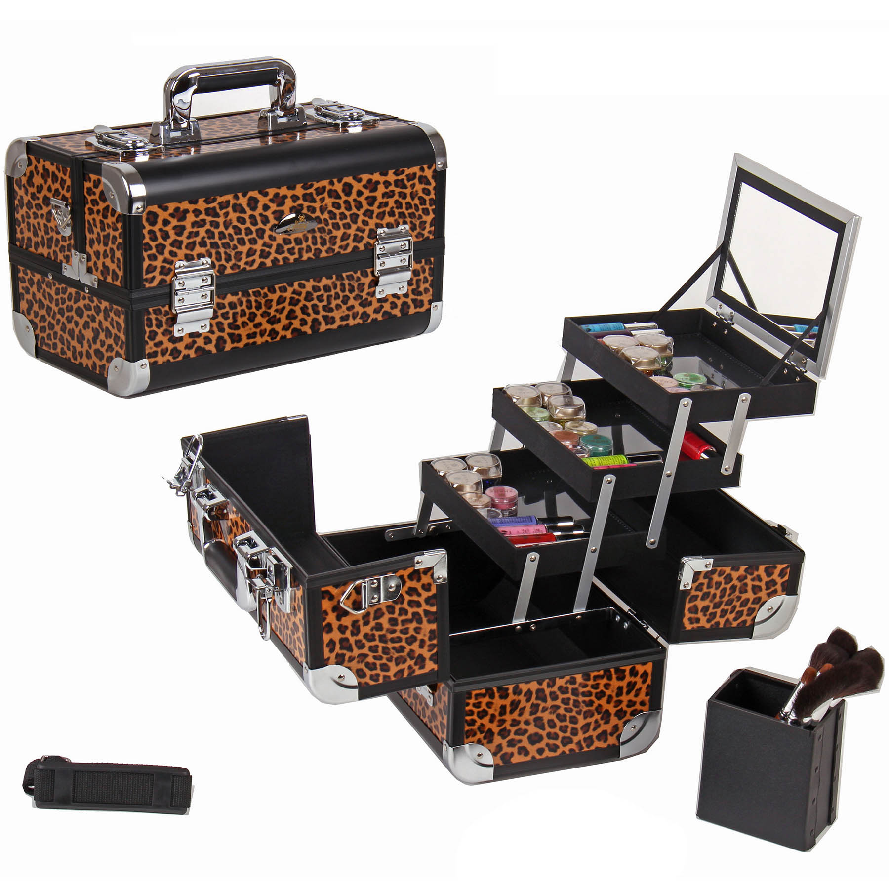 SHANY-Fantasy-Collection-Makeup-Artists-Cosmetics-Train-Case miniature 27