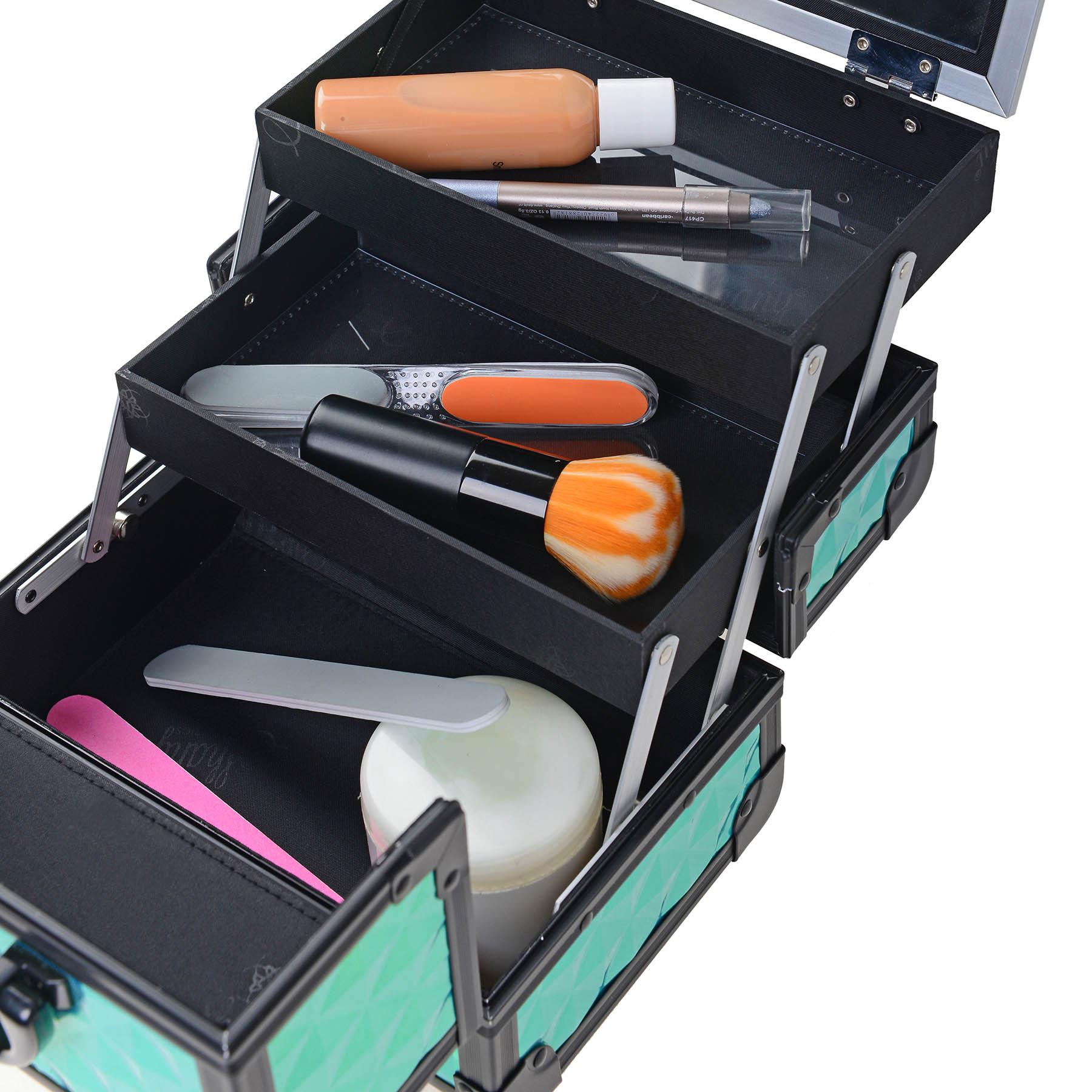 SHANY-Mini-Makeup-Train-Case-With-Mirror miniature 83