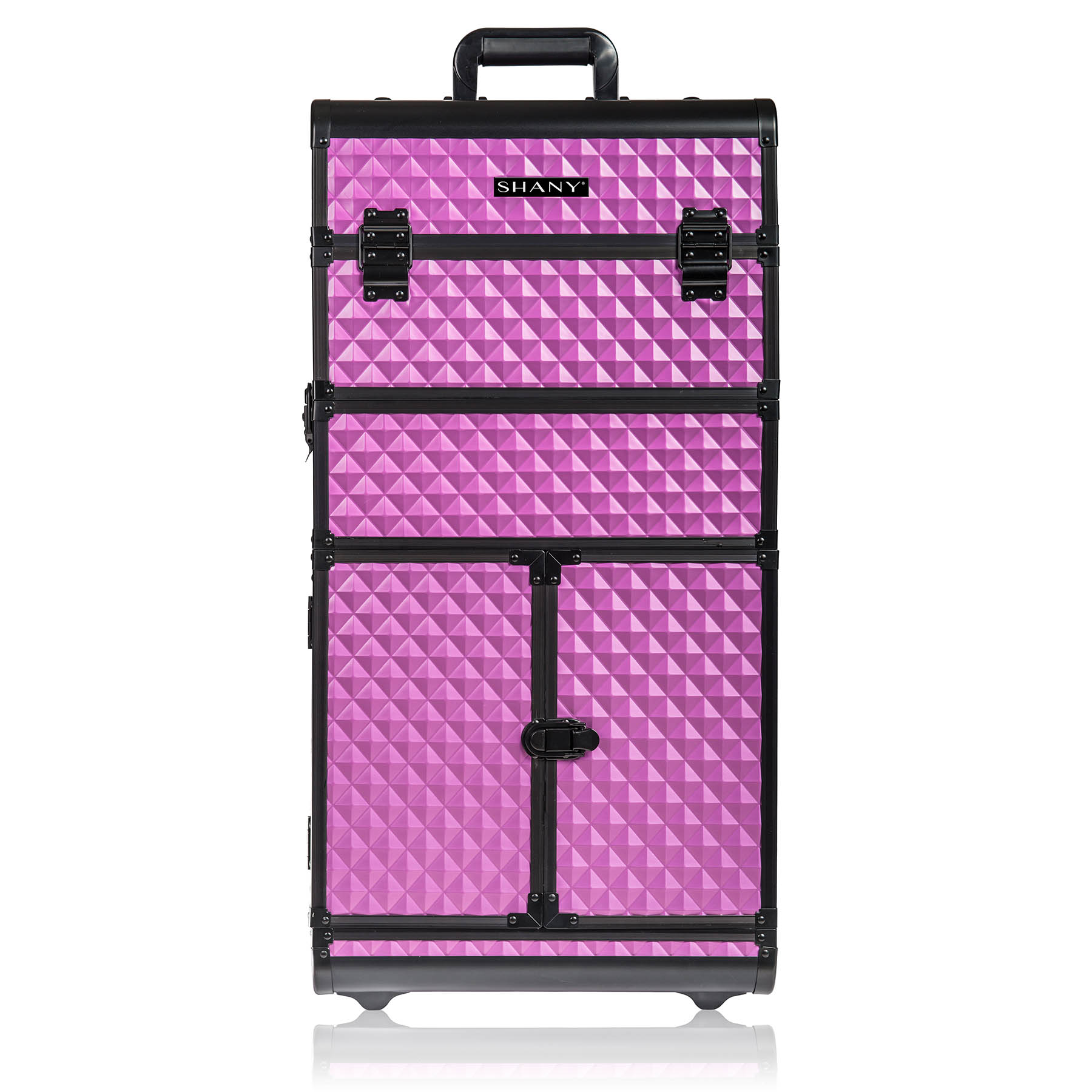 SHANY REBEL Series Pro Makeup Artists Rolling Train Case Tro