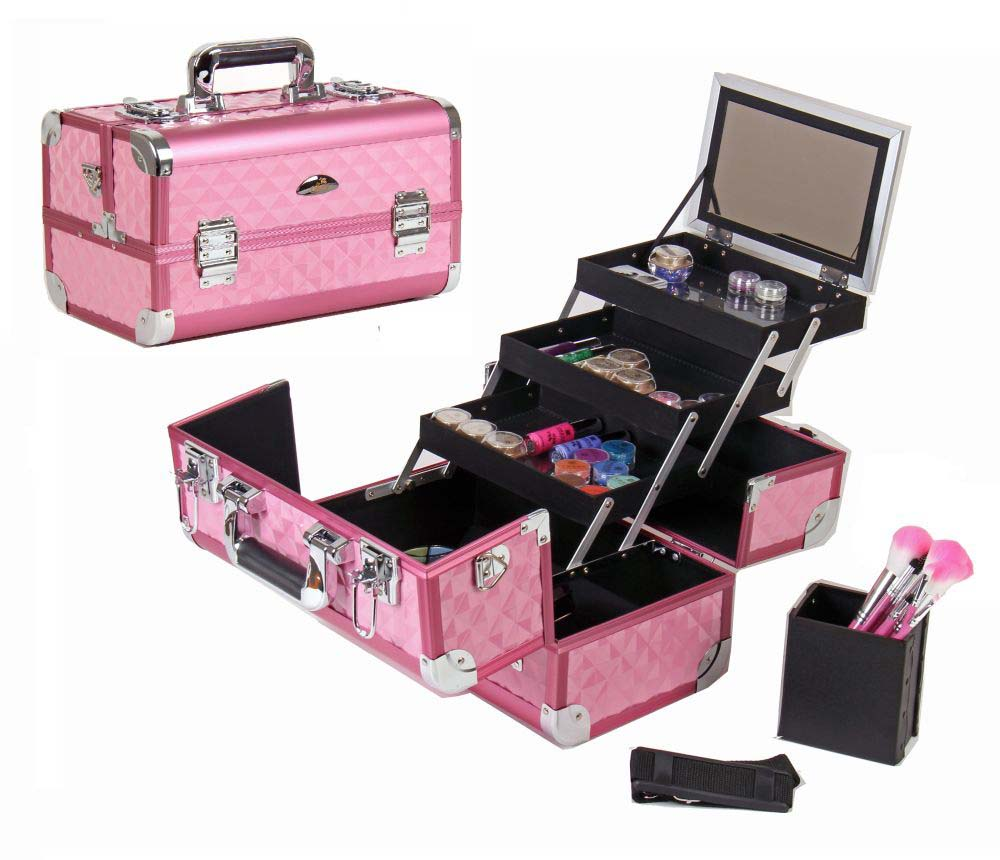 shany fantasy collection makeup artists cosmetics train case. Black Bedroom Furniture Sets. Home Design Ideas