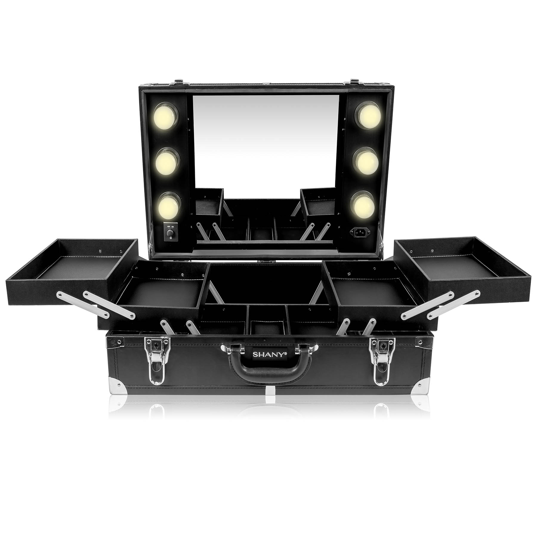 SHANY-Studio-To-Go-Tabletop-Mirror-Makeup-Station-with-Dimmable-Lights miniature 4