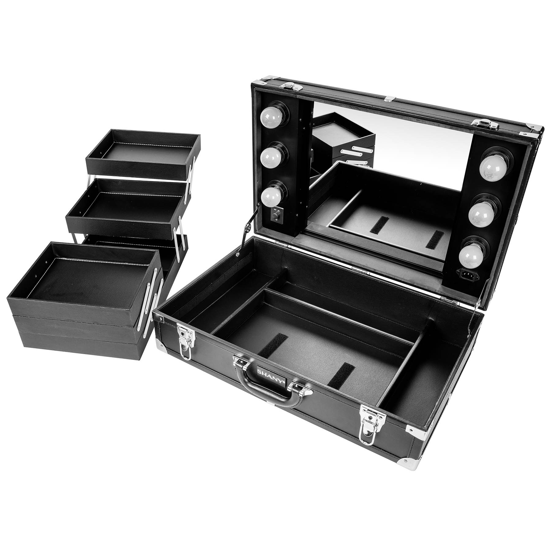 SHANY-Studio-To-Go-Tabletop-Mirror-Makeup-Station-with-Dimmable-Lights miniature 9