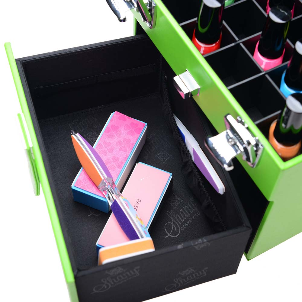 SHANY-Color-Matters-Nail-Accessories-Organizer-and-Makeup-Train-Case miniature 6