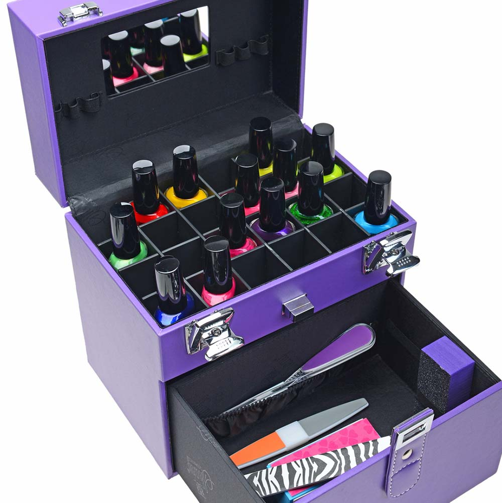 SHANY-Color-Matters-Nail-Accessories-Organizer-and-Makeup-Train-Case miniature 75