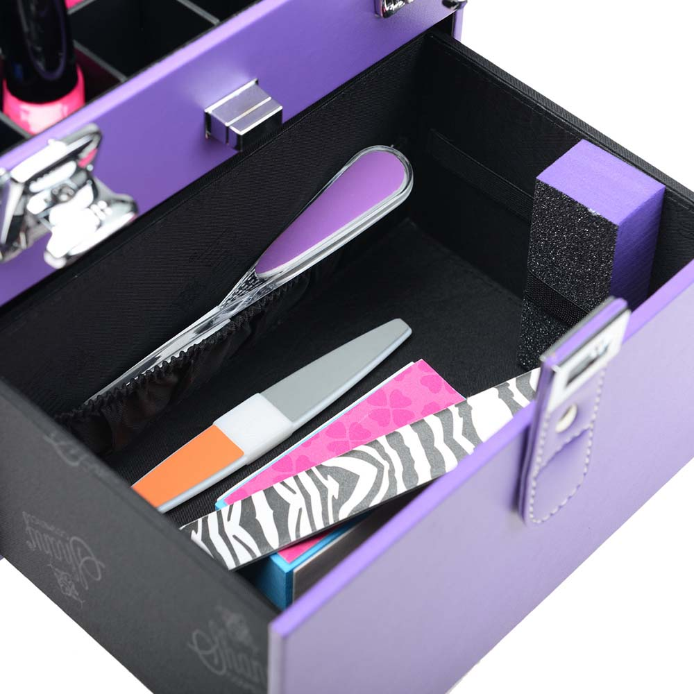 SHANY-Color-Matters-Nail-Accessories-Organizer-and-Makeup-Train-Case miniature 78