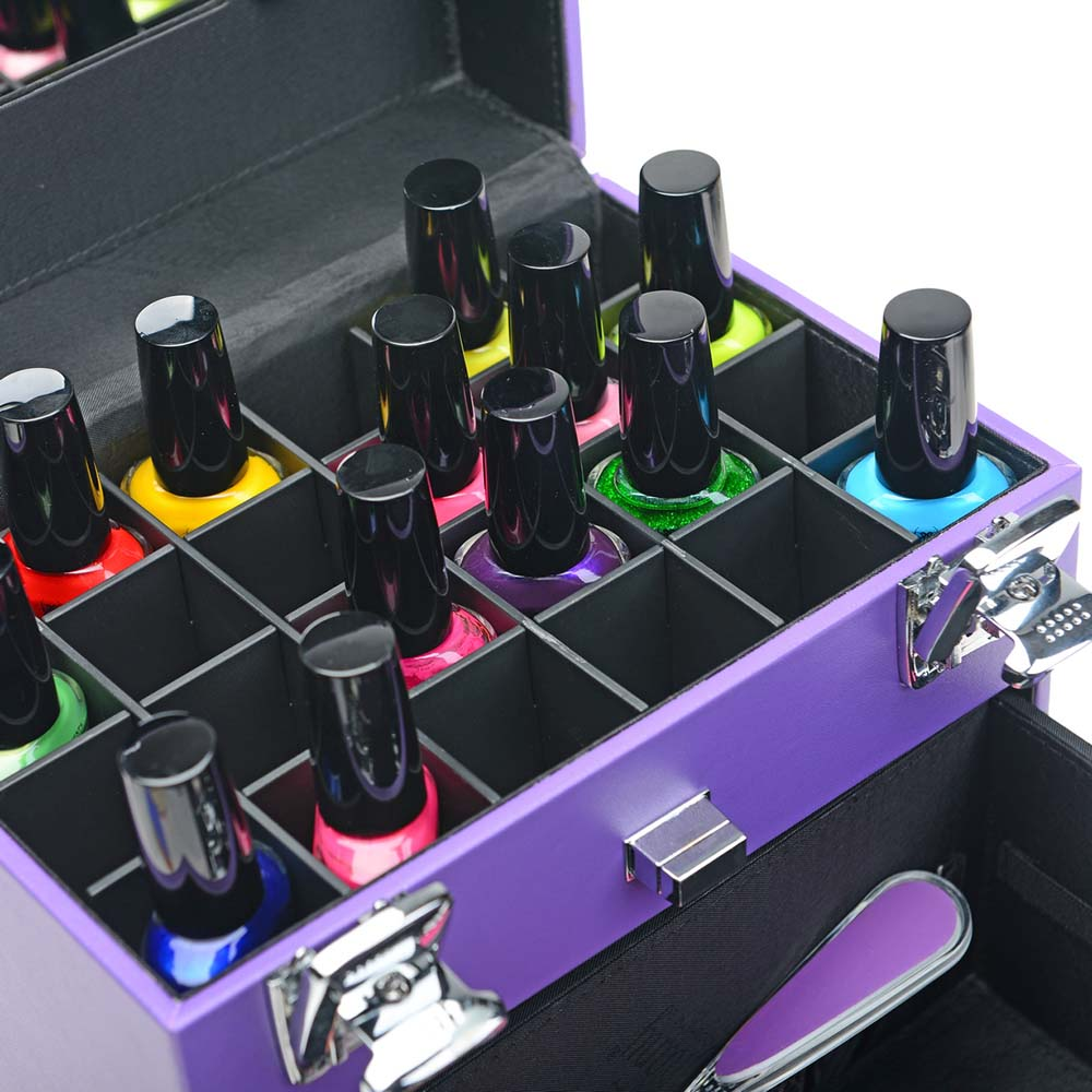 SHANY-Color-Matters-Nail-Accessories-Organizer-and-Makeup-Train-Case miniature 79