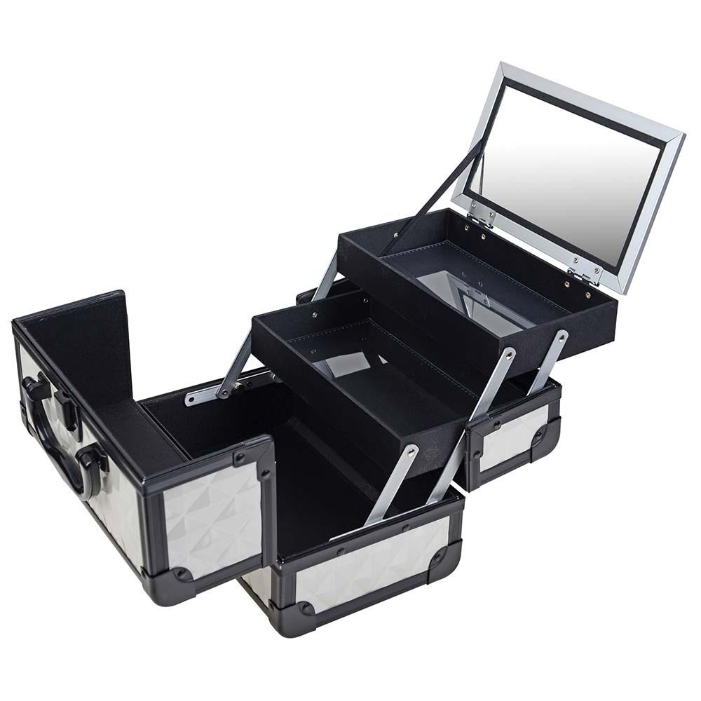 SHANY-Mini-Makeup-Train-Case-With-Mirror miniature 108