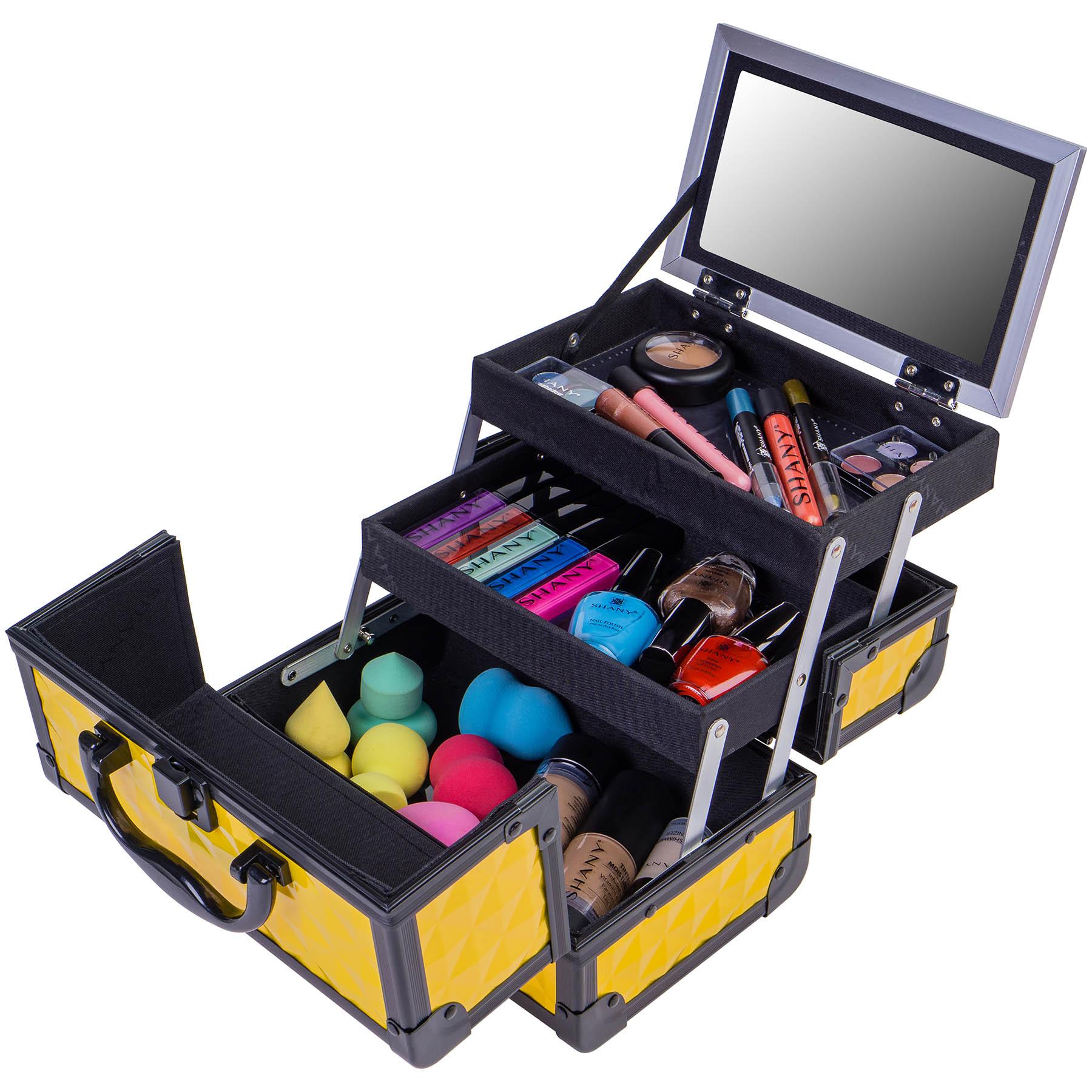 SHANY-Mini-Makeup-Train-Case-With-Mirror miniature 27