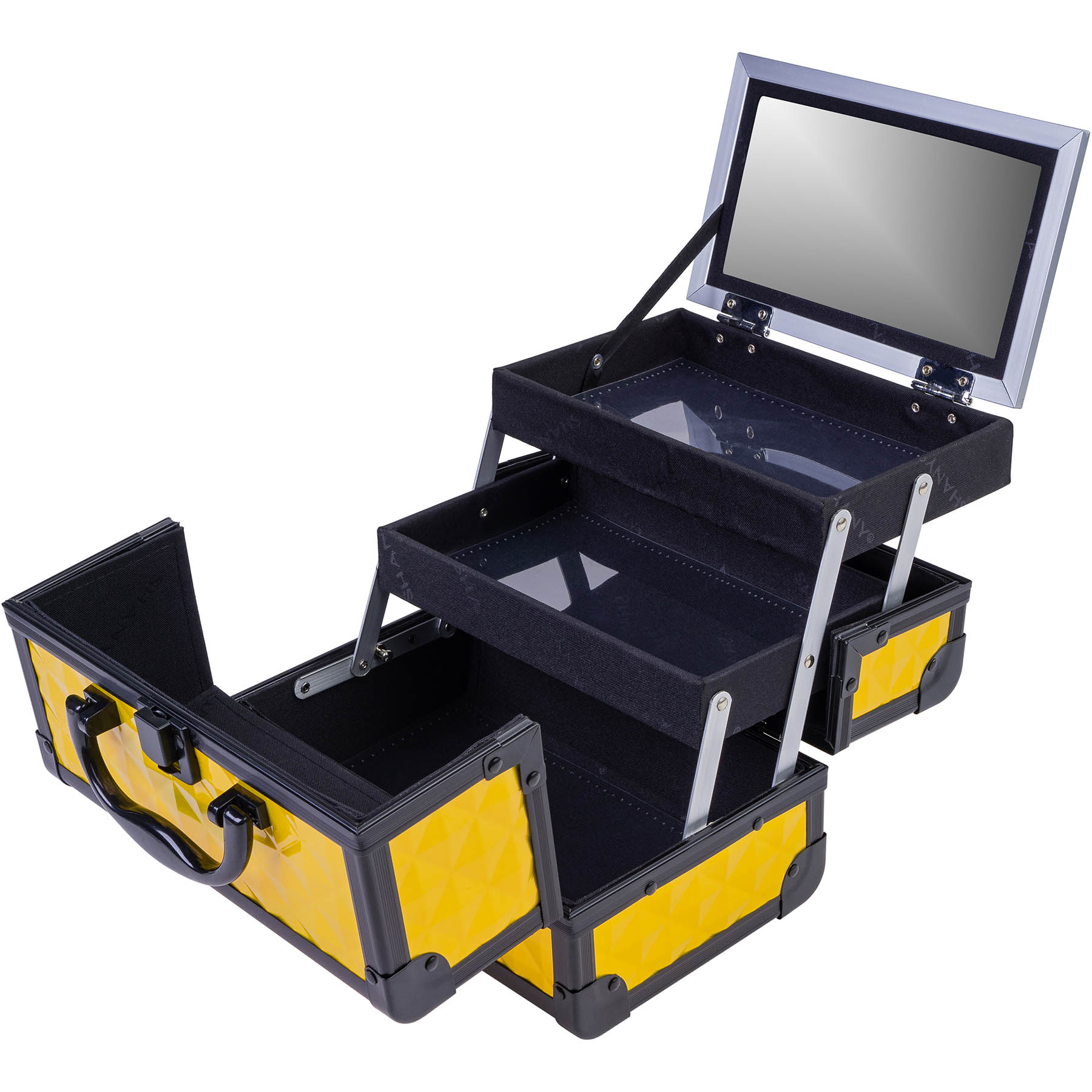 SHANY-Mini-Makeup-Train-Case-With-Mirror miniature 30