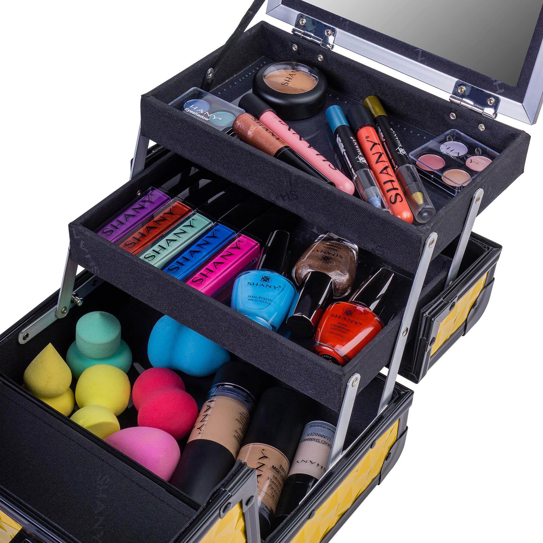 SHANY-Mini-Makeup-Train-Case-With-Mirror miniature 33