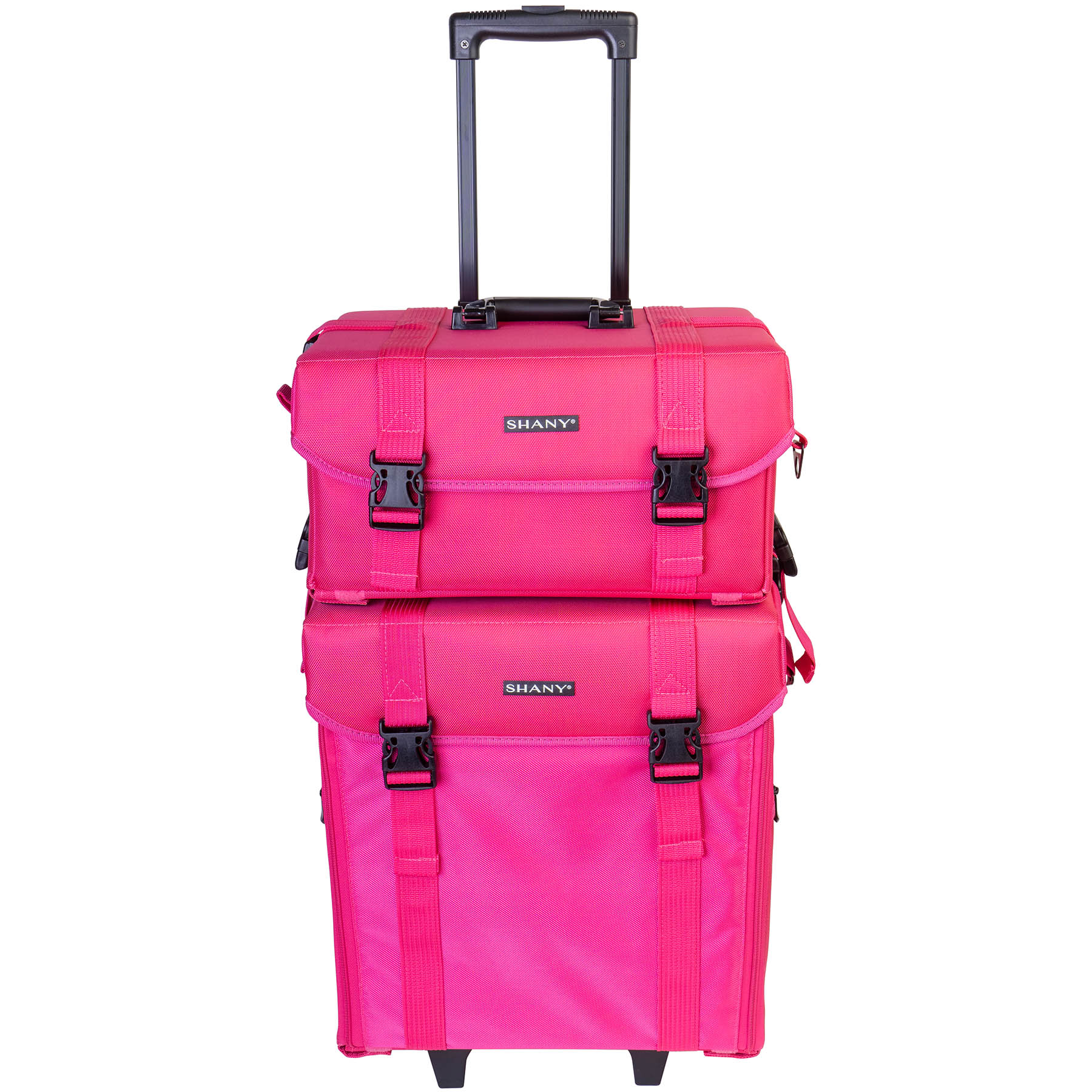 e3d7e2841d23 Details about SHANY Soft Makeup Artist Rolling Trolley Cosmetic Case with  Free Set of Mesh Bag