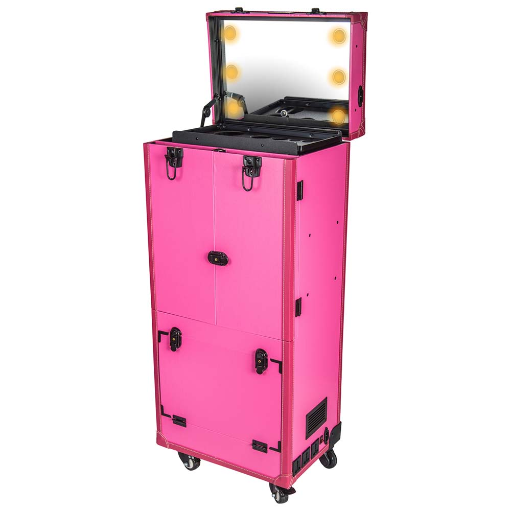 SHANY-REBEL-Pro-Makeup-Artist-Multifunction-lighted-Cosmetics-Rolling-Case miniature 18