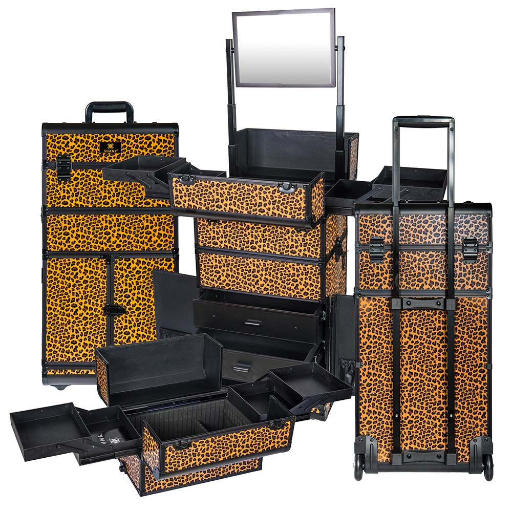 SHANY REBEL Series Pro Makeup Artists Rolling Train Case ...