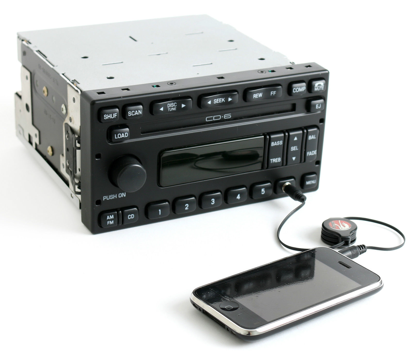 Ford Escape 2003-04 Audiophile Radio AM FM 6 Disc CD w Aux Input  3L8T-18C815-AC - 1 Factory Radio
