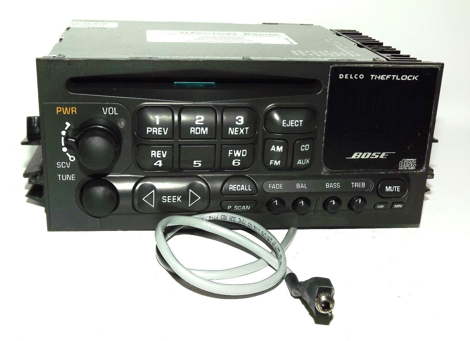 Cadillac Escalade Yukon 01-02 Bose Radio AM FM CD Player w Aux mp3 3.5  Input 16245605 - 1 Factory Radio