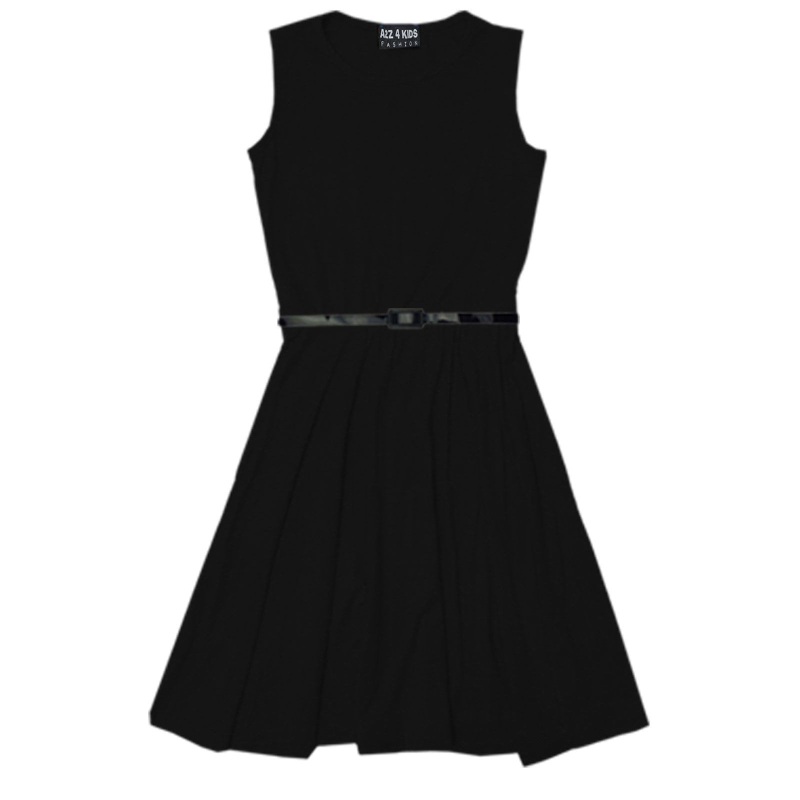 Girls Skater Dress Kids Party Dresses With Free Belt Age 7