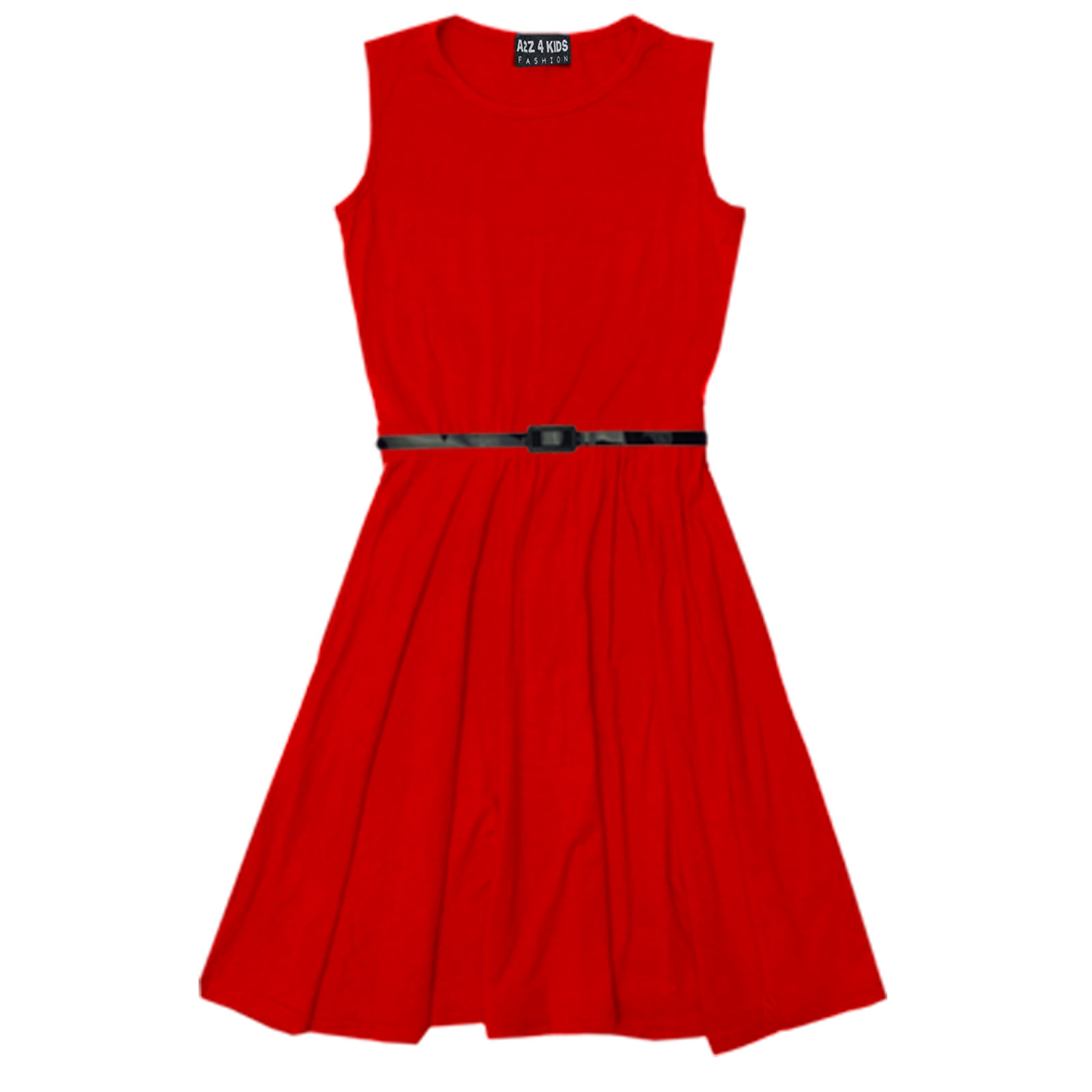 Girls Skater Dress Kids Party Dresses With Free Belt Age 7 ... Red Dresses For Girls Age 9