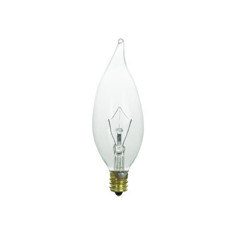 15w Flame 120v Candelabra Base Clear Bulbs Ebay