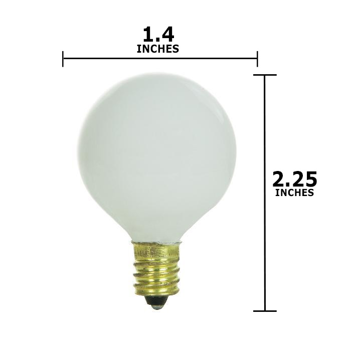 sunlite 10w 120v globe g11 white e12 light bulb