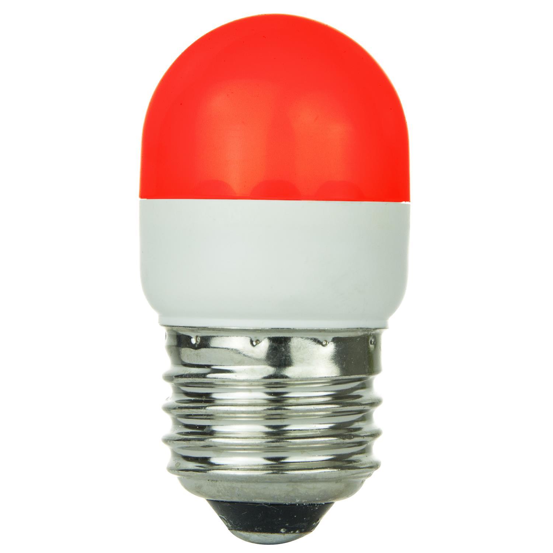 sunlite red led tubular t10 medium screw in base light bulb ebay. Black Bedroom Furniture Sets. Home Design Ideas