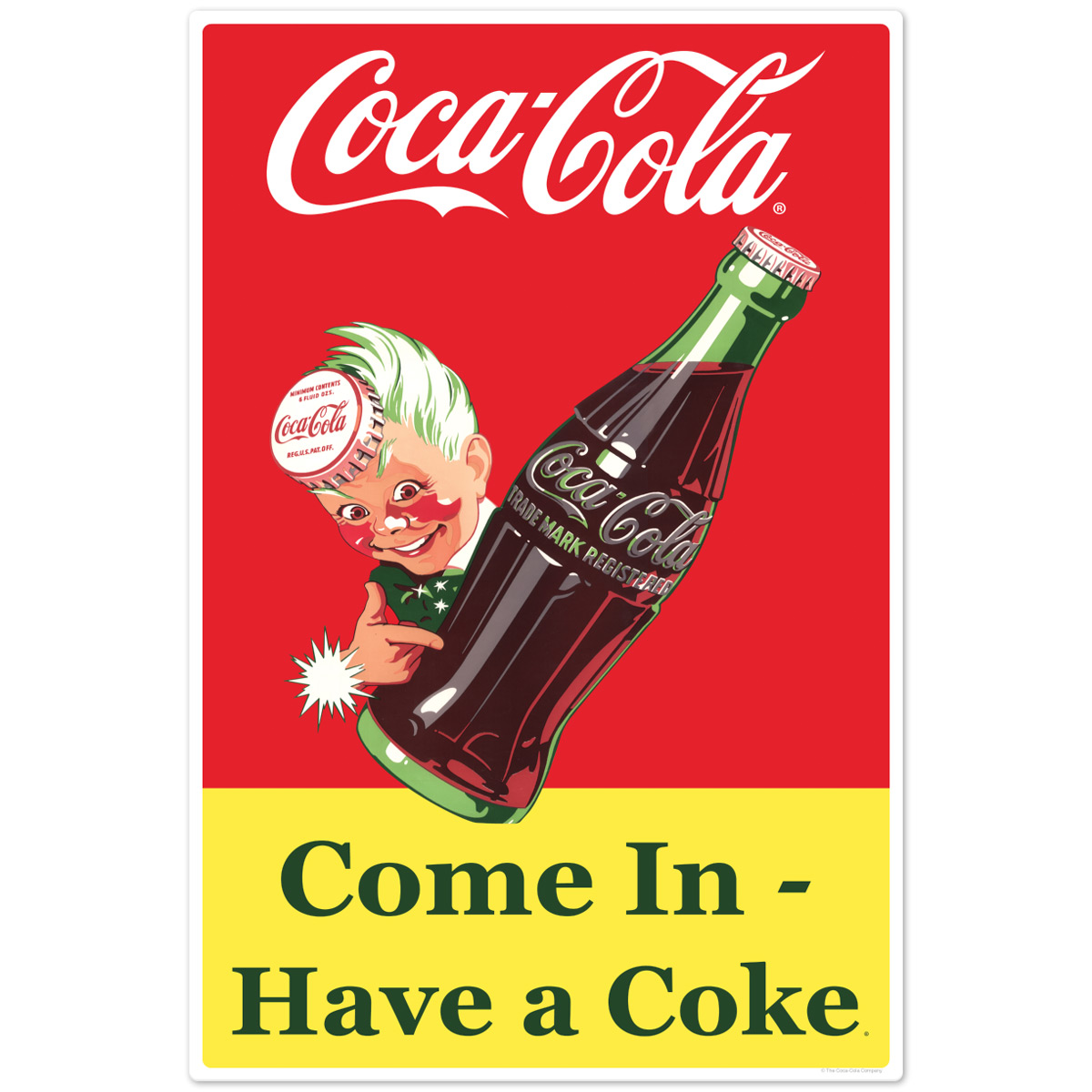 Coca-Cola Kay Style Sprite Boy Wall Decal 24 x 7 Vintage Style Kitchen