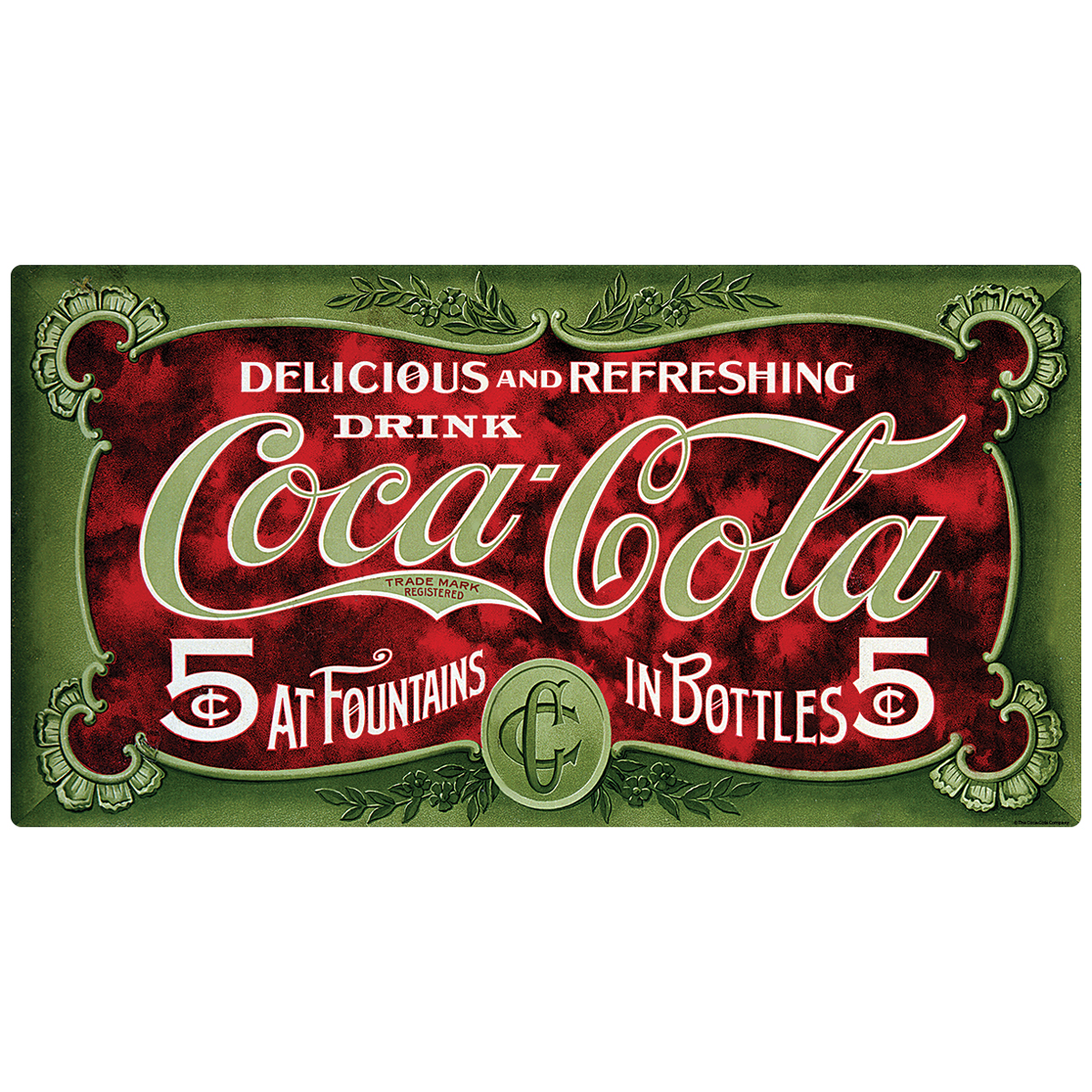 Coca-Cola in Fountains and Bottles Decal 24 x 13 Peel and Stick Kitchen Decor
