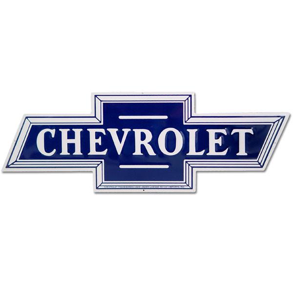 Chevrolet Bowtie Car Logo Cutout Metal Sign Chevy Garage Decor 24 x ...