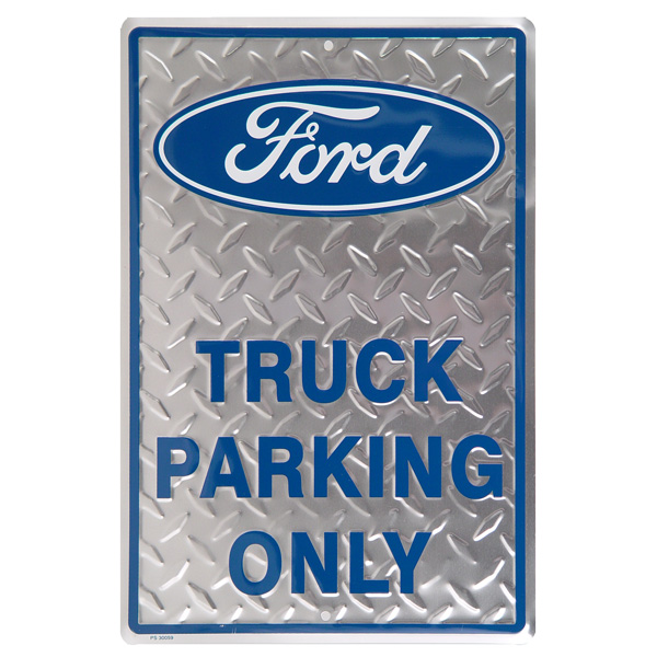 Toyota Garage Decor: Ford Truck Parking Only Metal Sign Tin Automotive Garage