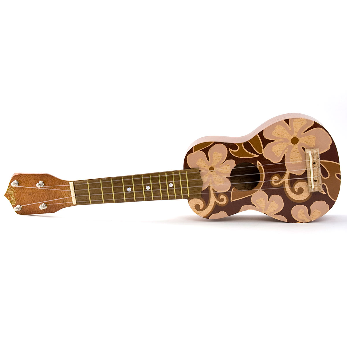 Ukulele Hawaiian Floral Design Brown Flowers KC Hawaii ...