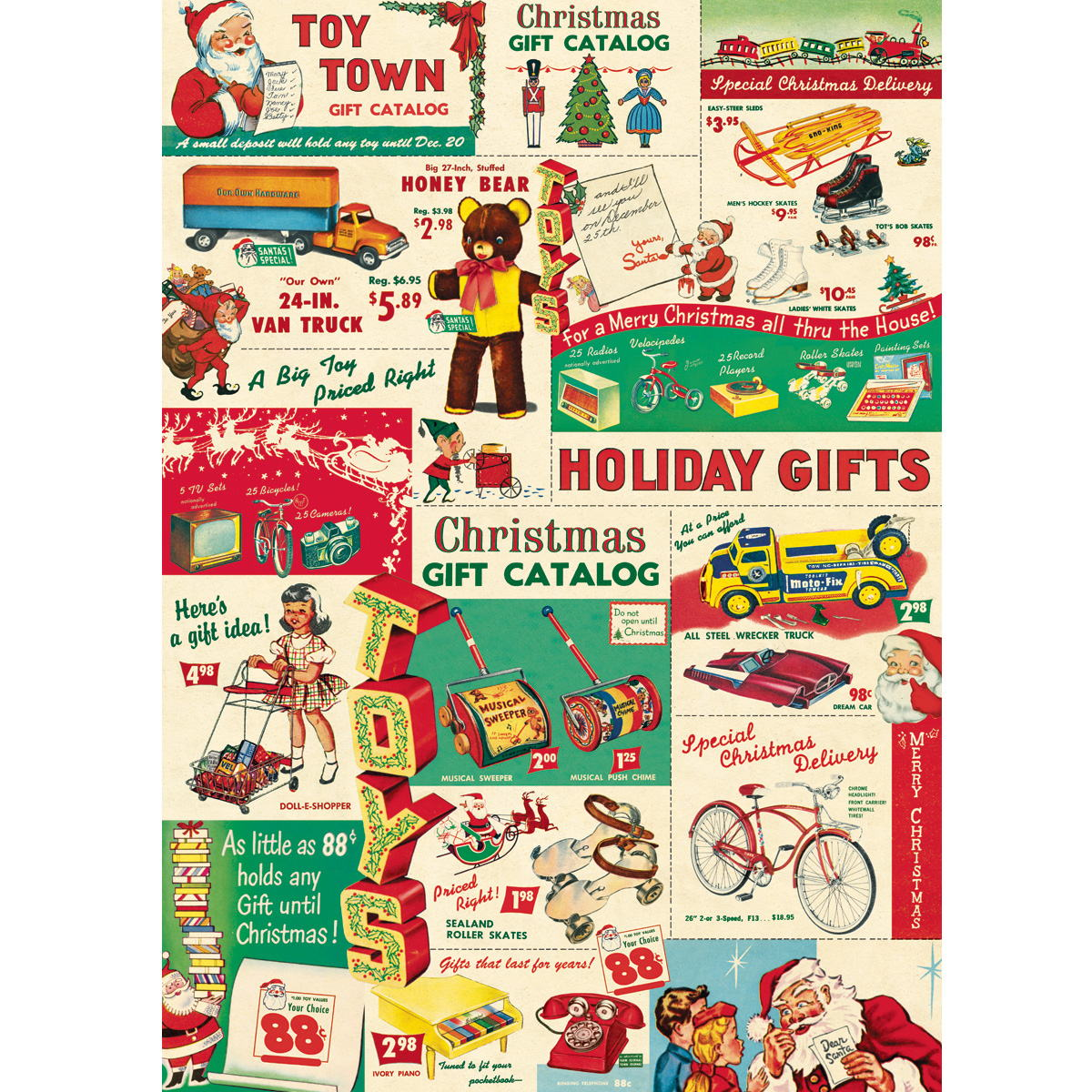 Christmas catalog vintage toys ephemera wrapping paper