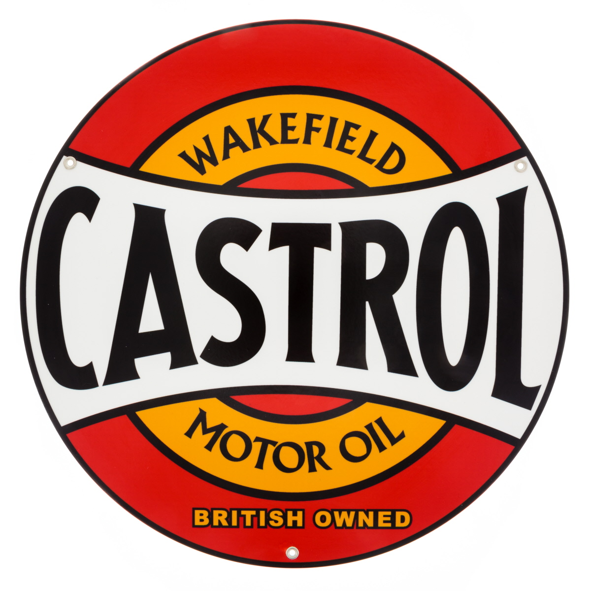castrol wakefield motor oil metal sign gas reproduction