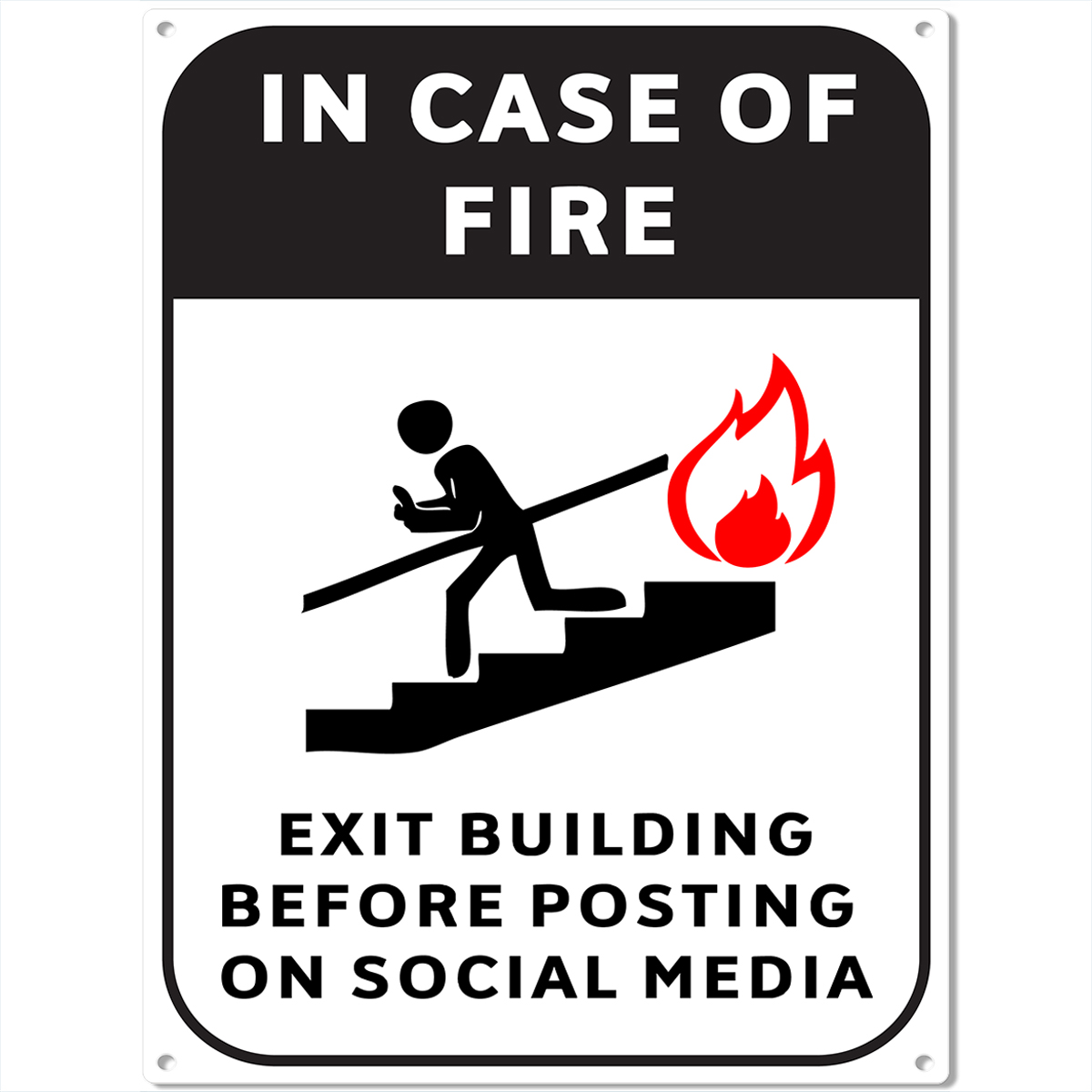 Unique Home Decor Fire Escape Social Media Metal Sign Funny Bar Game Room