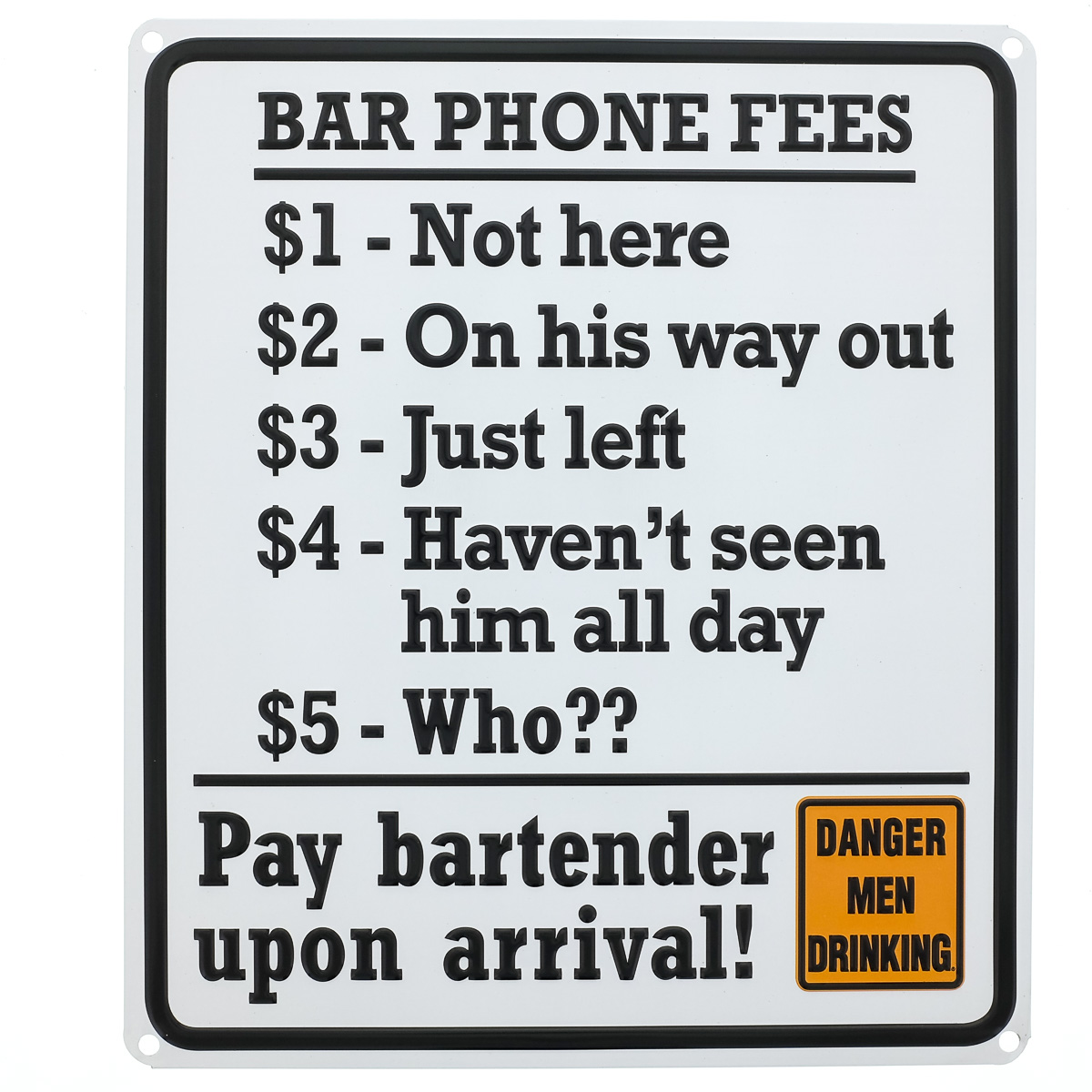 Phone Quotes Bar Phone Fees Funny Quotes Metal Sign Man Cave Game Room Decor