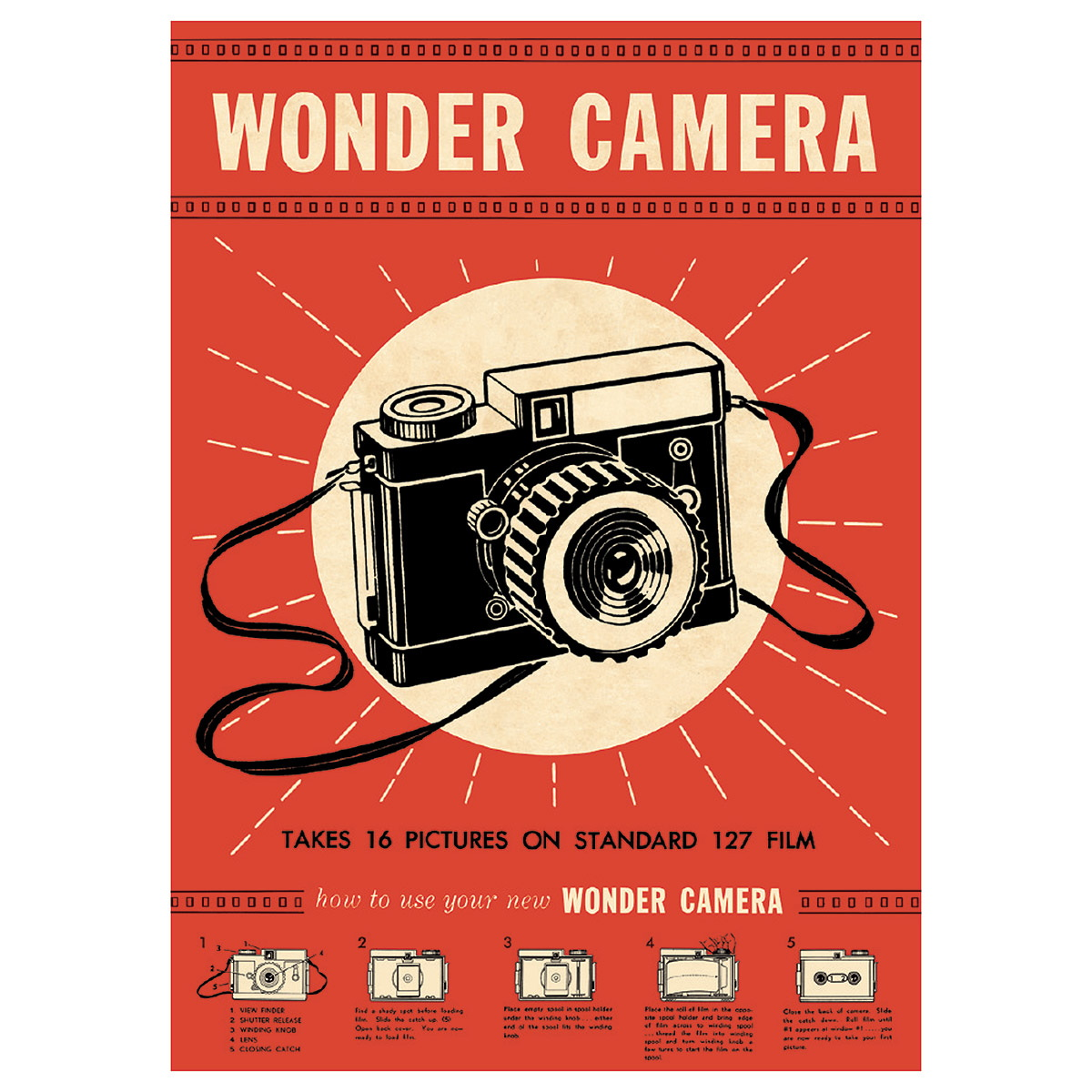 Details about Wonder Camera Advertisement Vintage Style Poster Ephemera