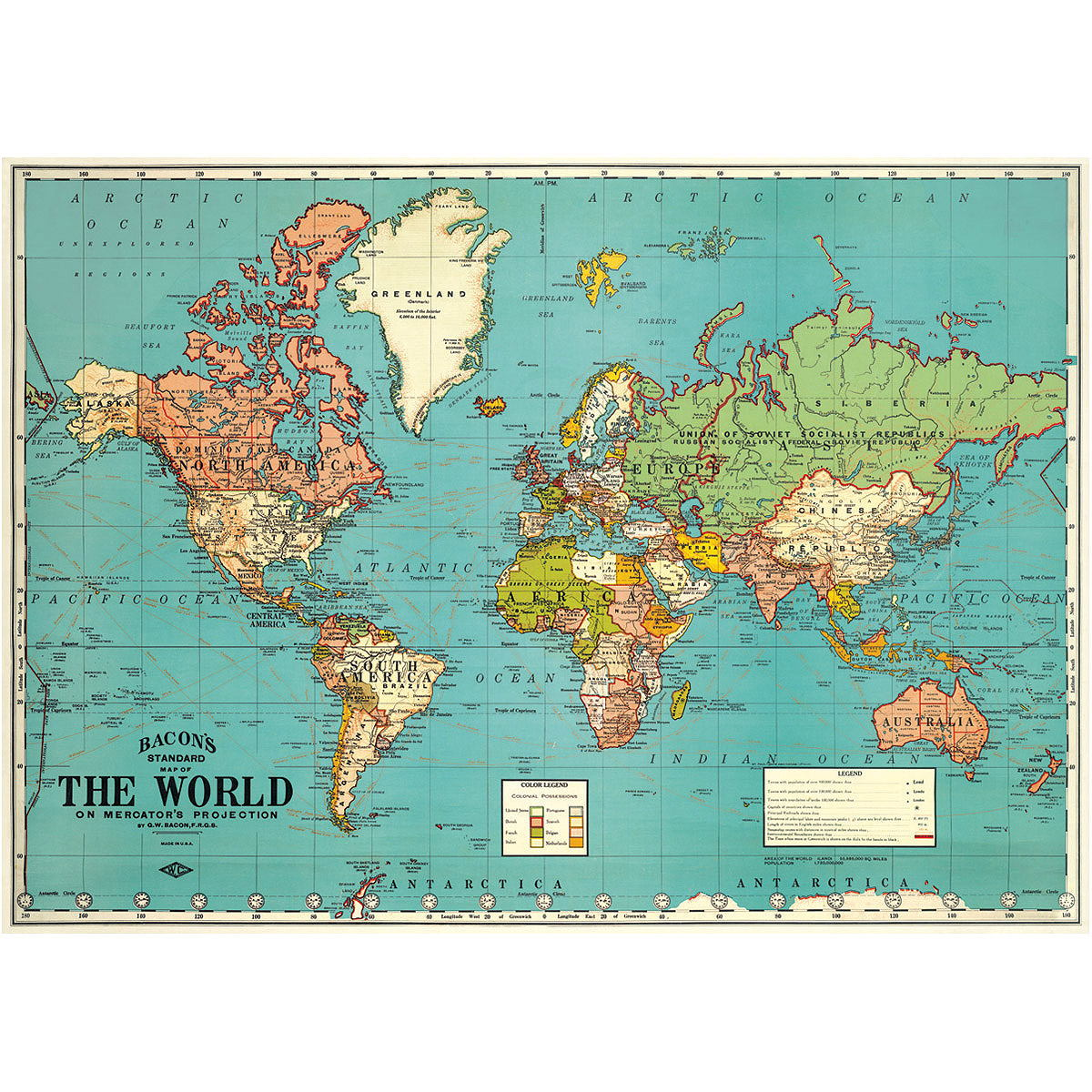 Political map of the world vintage style travel poster ephemera ebay political map of the world vintage style travel poster ephemera gumiabroncs Gallery