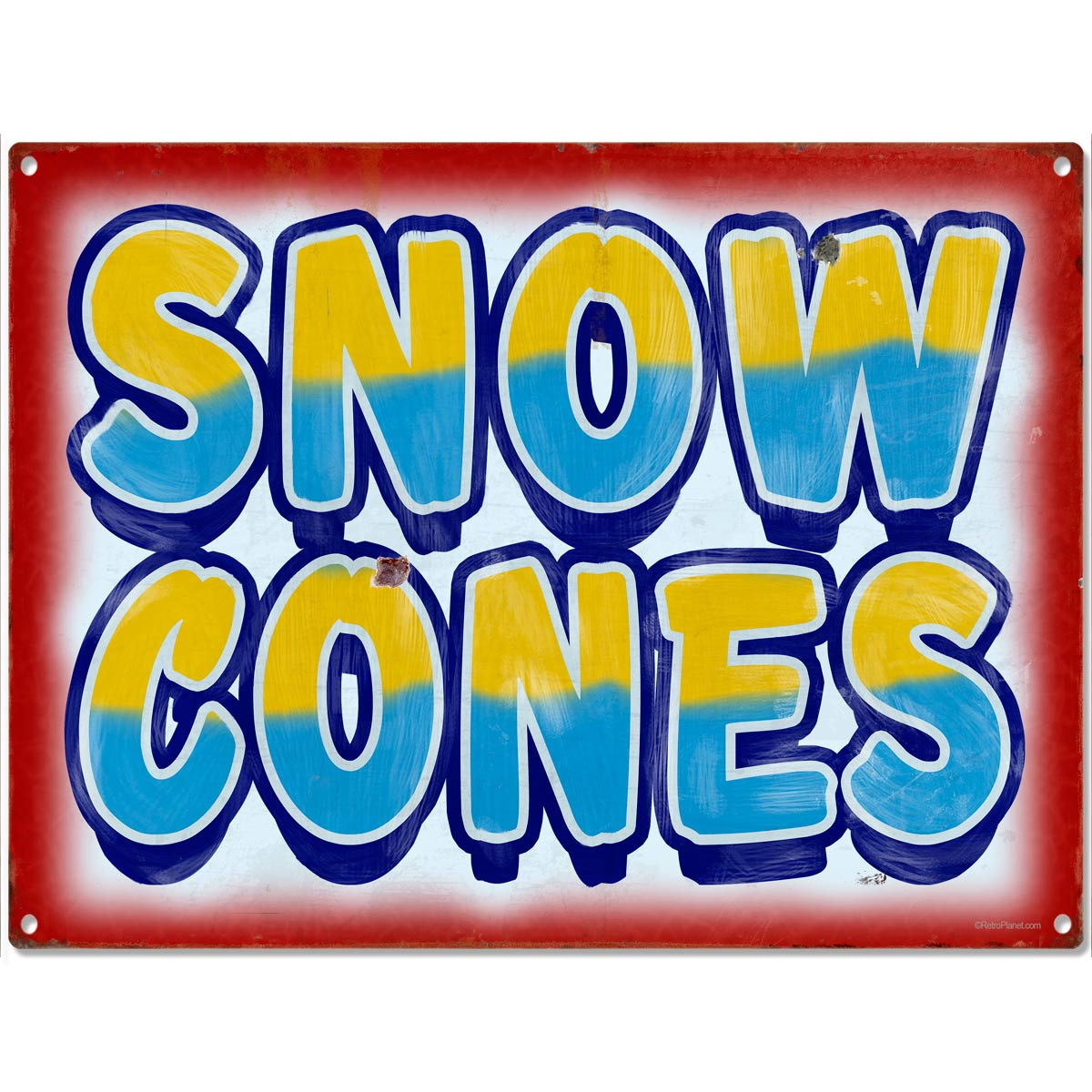 Snow Cones Country Fair Food Metal Sign Vintage Style Ice