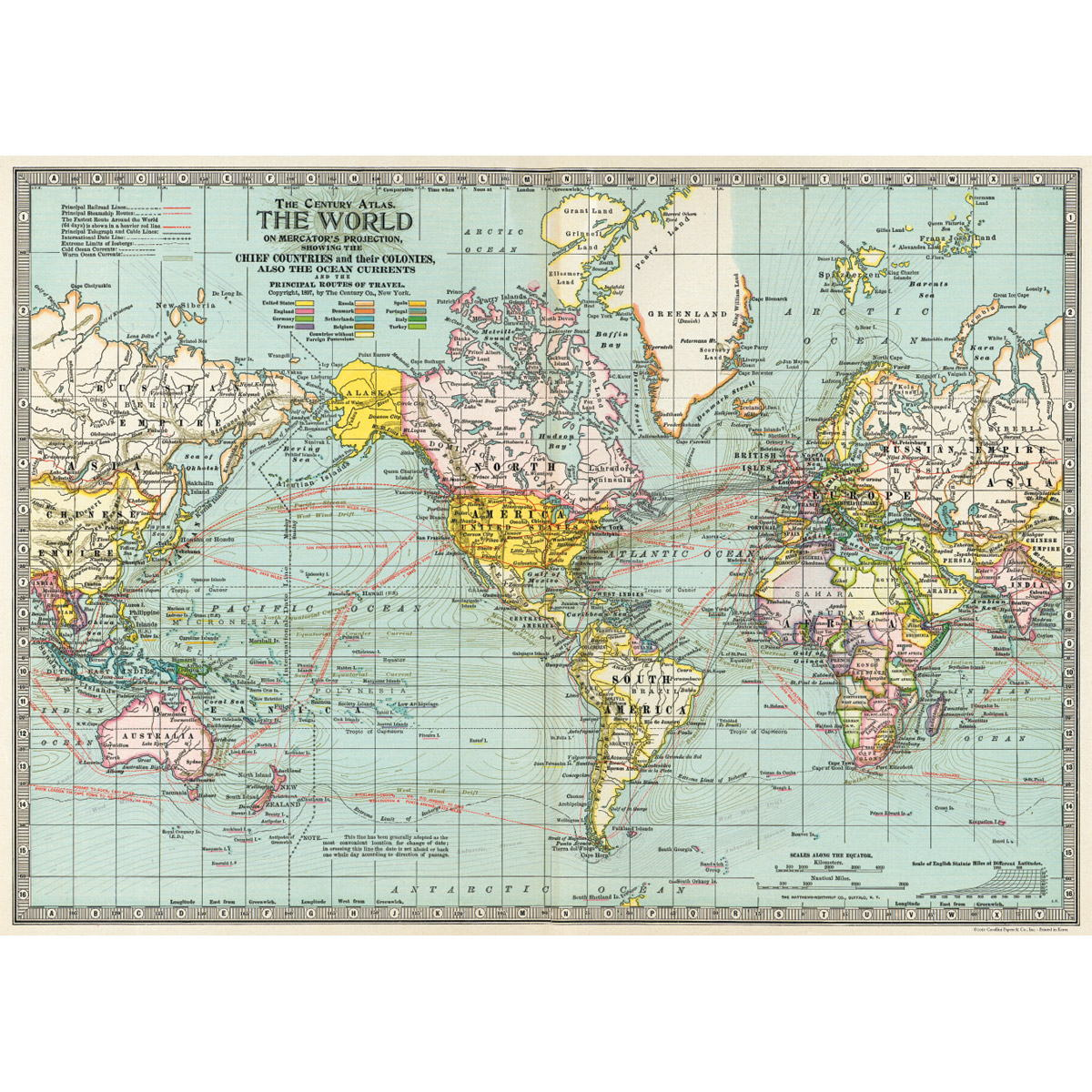 Political world map vintage style poster decorative paper ephemera political world map vintage style poster decorative paper ephemera gumiabroncs Gallery