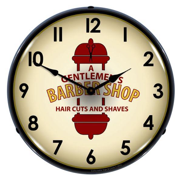 Gentlemens barber shop light up wall clock 14 in ebay gentlemens barber shop light up wall clock 14 in aloadofball Images
