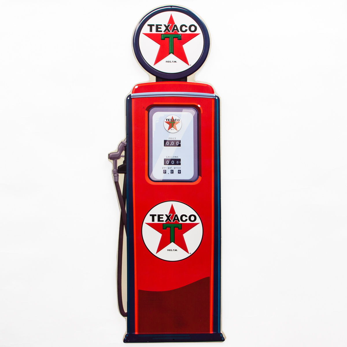 Coca Cola Home Decor Texaco Globe Gas Pump Large Embossed Tin Sign Vintage