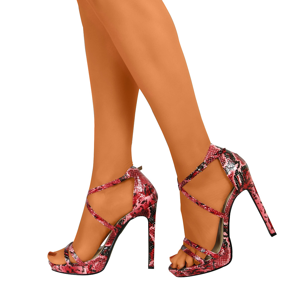 Womens Stiletto Ankle Strap Sexy High Heels New Open Toe ...