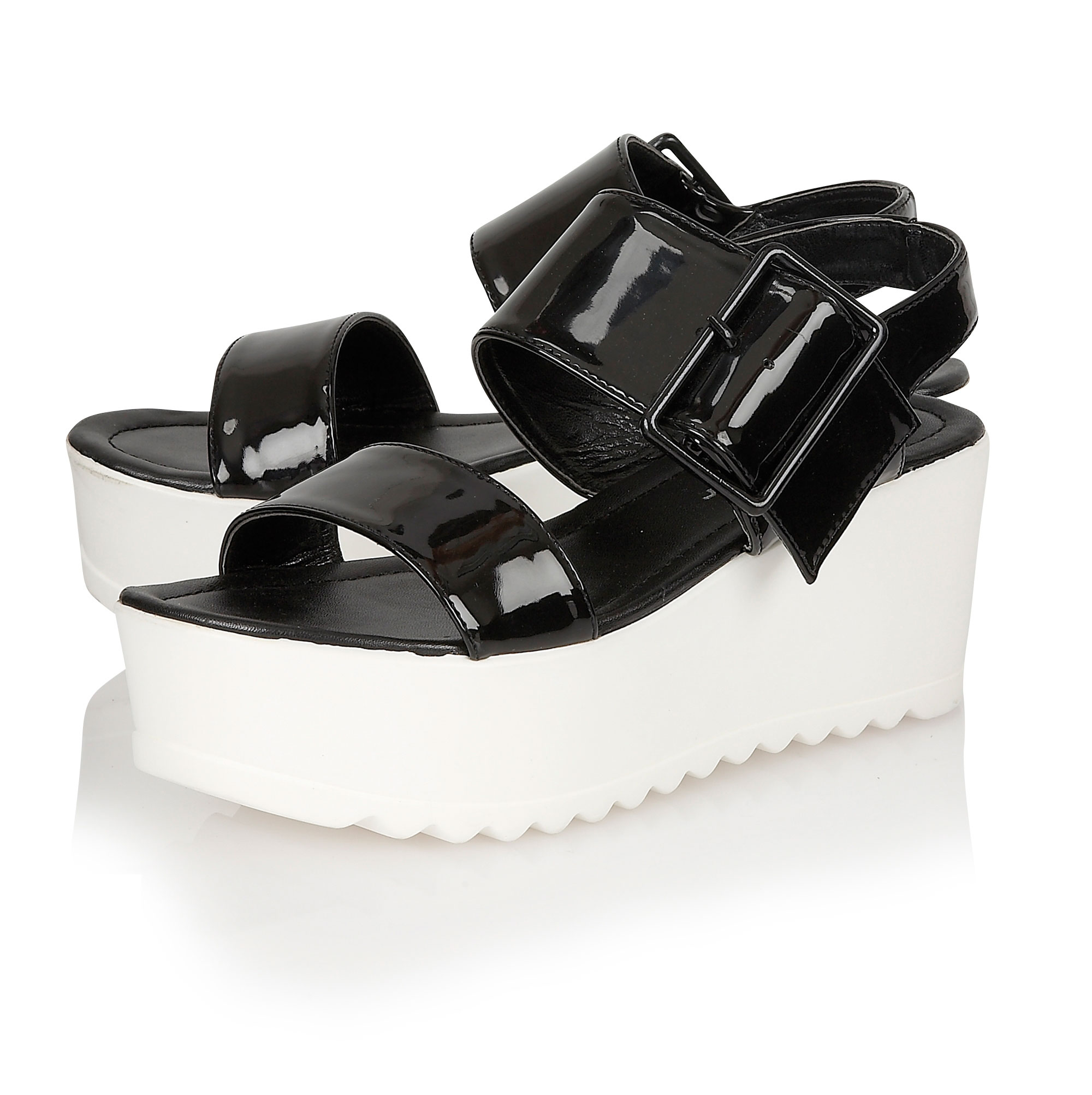 Chunky Heel T Strap Shoes