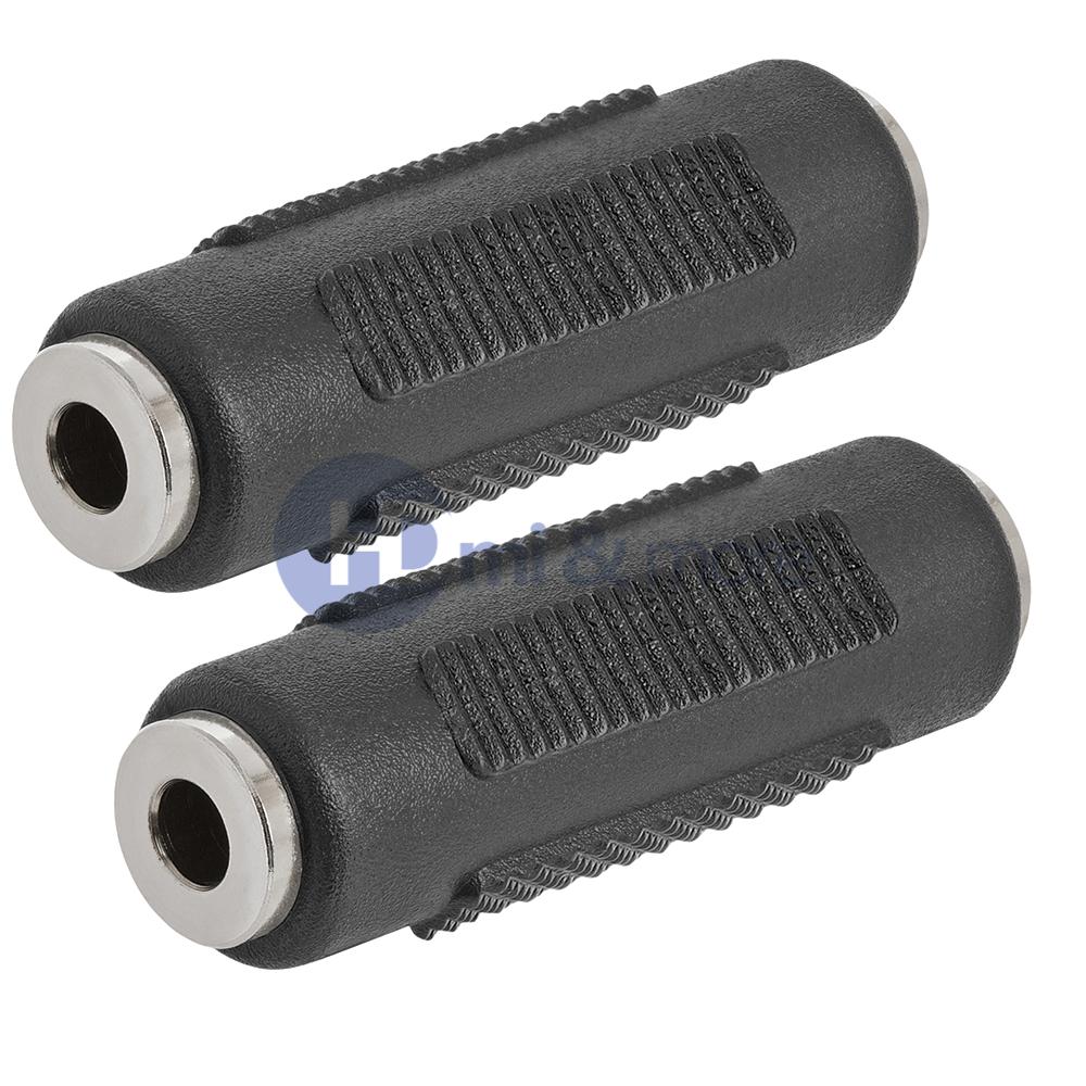 2x Audio Adapter 3.5mm To 3.5mm Stereo Jack Coupler Female To Female Kortingen Prijs