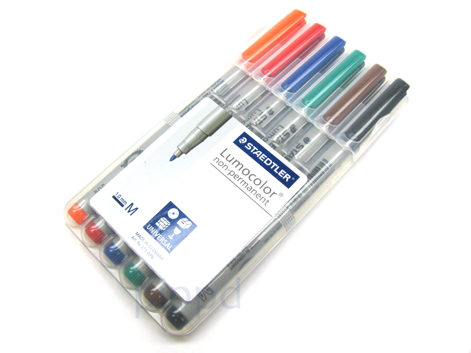 6-Pack Mat Marking Pen  Staedtler Lumocolor Non-Permanent Water Soluble  Markers 4d404be03b